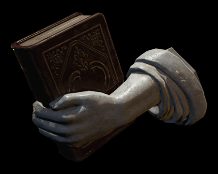 Image of Left Arm with Book