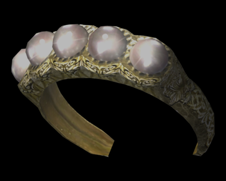 Image of Gold Bangle w/ Pearls
