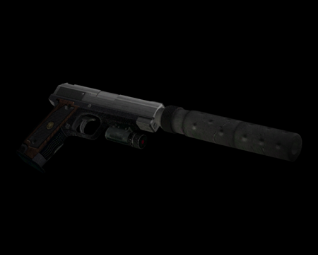 Image of Handgun w/ Silencer