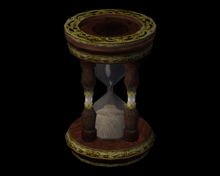 Image of Hourglass w/ gold decor