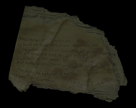 Image of Travis' Memo (Back)