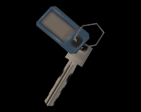 Image of Key With Blue Tag