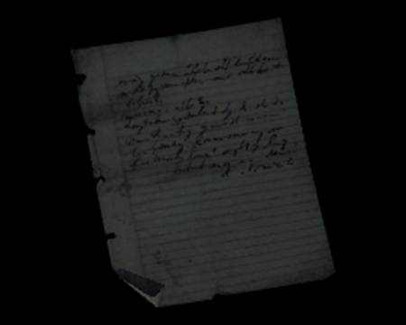 Image of Escapee's Note