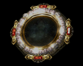 Image of Mirror w/ Pearls & Rubies